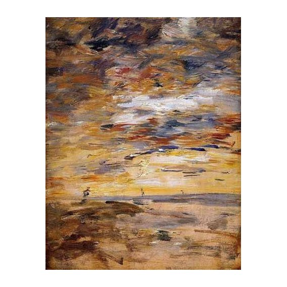 abstracts paintings - Picture -Sky at sunset-