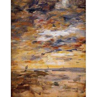 - Quadro -Sky at sunset- - Boudin, Eugene