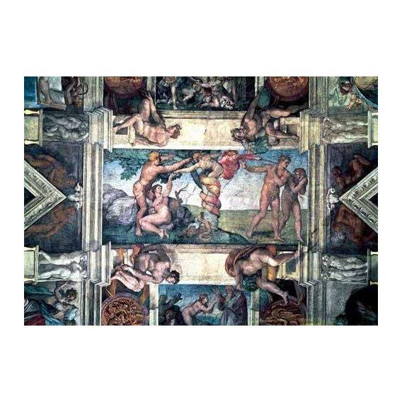 imagens religiosas - Quadro -Bóveda: Pecado original-