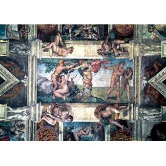 quadros religiosos - Quadro -Bóveda: Pecado original- - Buonarroti, Miguel Angel