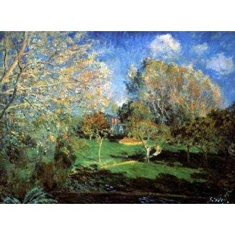 - Quadro -Garden- - Sisley, Alfred