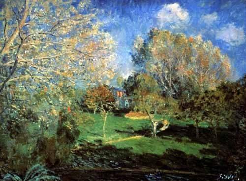 quadros-de-paisagens - Quadro -Garden- - Sisley, Alfred