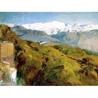 - Quadro -Vista de Sierra Nevada- - Sorolla, Joaquin