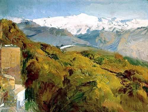 quadros-de-paisagens - Quadro -Vista de Sierra Nevada- - Sorolla, Joaquin