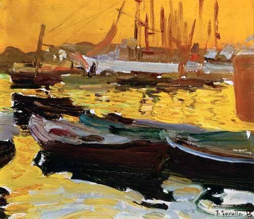 quadros-de-paisagens-marinhas - Quadro -Puerto de Valencia- - Sorolla, Joaquin