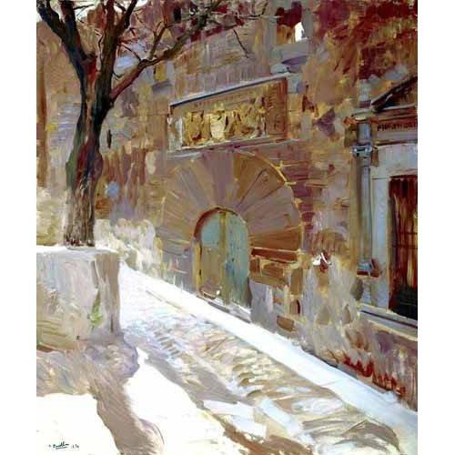 pinturas de paisagens - Quadro -Calle de Avila-