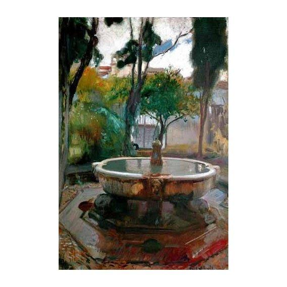 pinturas de paisagens - Quadro -Jardines del Alcazar de Sevilla II-