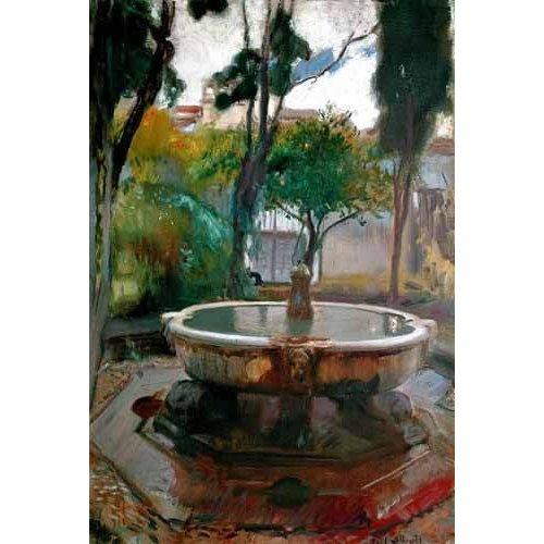 Quadro -Jardines del Alcazar de Sevilla II-