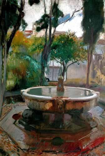 quadros-de-paisagens - Quadro -Jardines del Alcazar de Sevilla II- - Sorolla, Joaquin