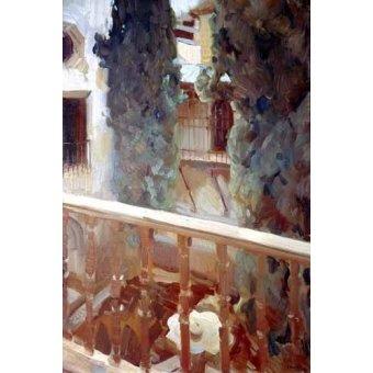 - Quadro -La Alhambra de Granada, balcón- - Sorolla, Joaquin