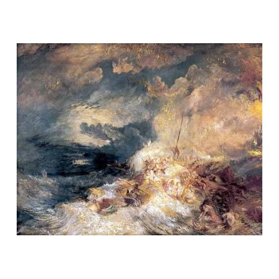 pinturas de paisagens marinhas - Quadro -Incendio en el mar-