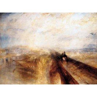 quadros de paisagens - Quadro -Chuva, vapor e velocidade- - Turner, Joseph M. William