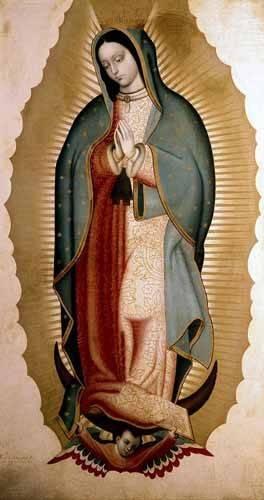 religious paintings - Picture -La Virgen de Guadalupe- - Cabrera, Miguel