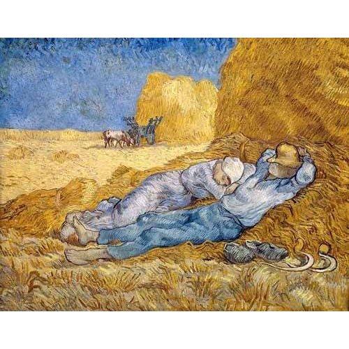 pinturas de paisagens - Quadro -La siesta-