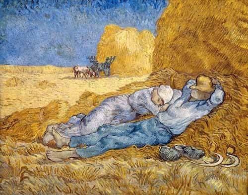 quadros-de-paisagens - Quadro -A sesta- - Van Gogh, Vincent