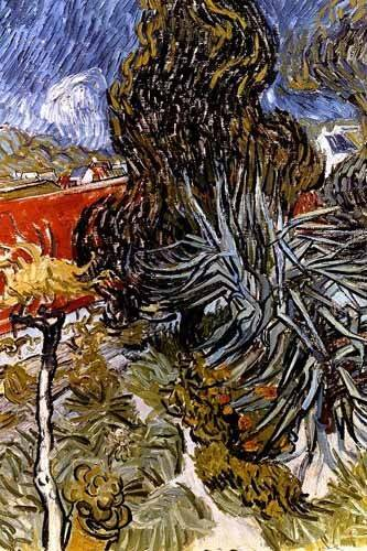 quadros-de-paisagens - Quadro -El jardín del doctor Gachet en Auvers-sur-Oise- - Van Gogh, Vincent