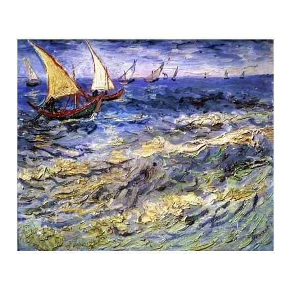 pinturas de paisagens marinhas - Quadro -Marea cerca de Santa María-