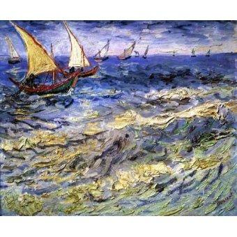 quadros de paisagens marinhas - Quadro -Marea cerca de Santa María- - Van Gogh, Vincent