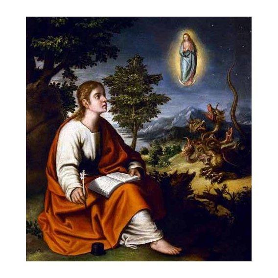 religious paintings - Picture -Visión de San Juan Evangelista-
