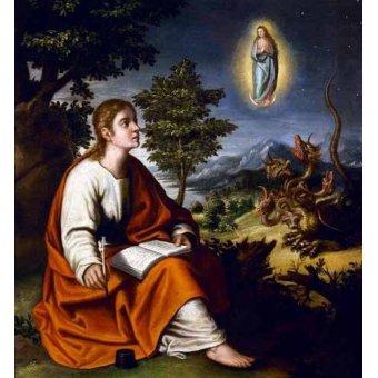 quadros religiosos - Quadro -Visión de San Juan Evangelista- - Cotan, Juan Sanchez
