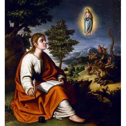 Cuadro -Visión de San Juan Evangelista-