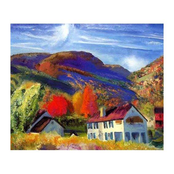 pinturas de paisagens - Quadro -Mi casa, Woodstock-