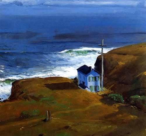 quadros-de-paisagens-marinhas - Quadro -Shore House- - Bellows, George