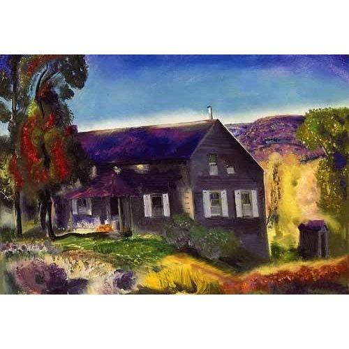 pinturas de paisagens - Quadro -Black House-