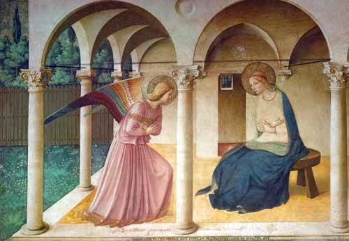 religious paintings - Picture -Anunciación- - Fra Angelico, G. Da Fisole