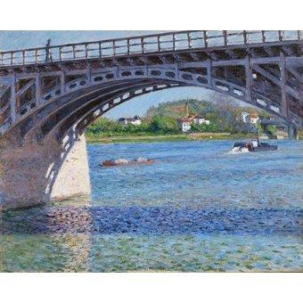 - Quadro -El puente de Argenteuil y el Sena- - Caillebotte, Gustave