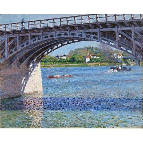 Quadro -El puente de Argenteuil y el Sena-
