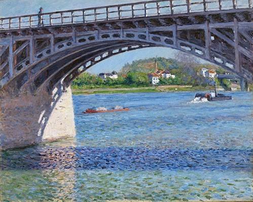 quadros-de-paisagens - Quadro -El puente de Argenteuil y el Sena- - Caillebotte, Gustave