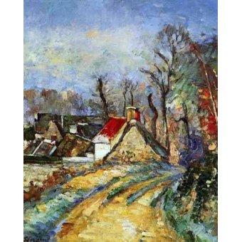- Quadro -Curva en el camino de Auvers- - Cezanne, Paul