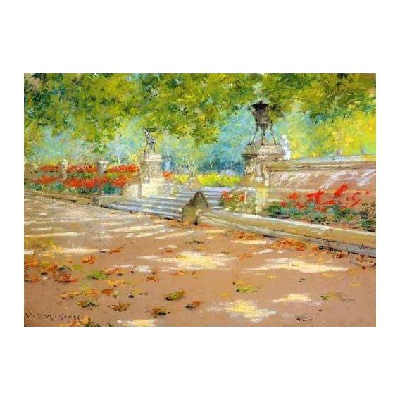 pinturas de paisagens - Quadro -Merritt Terrace Prospect Park-