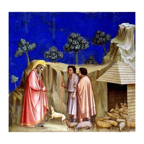 cuadros religiosos - Cuadro -Joachim retires to the sheepfold-