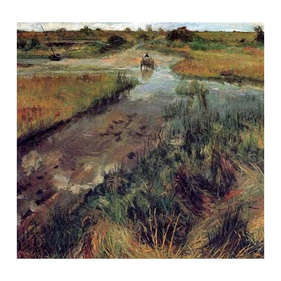pinturas de paisagens - Quadro -Swollen Stream at Shinnecock-
