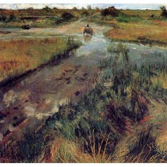 - Quadro -Swollen Stream at Shinnecock- - Chase, William