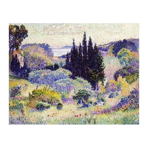 pinturas de paisagens - Quadro -Cipreses en abril-
