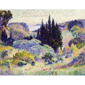 - Quadro -Cipreses en abril- - Cross, Henri Edmond