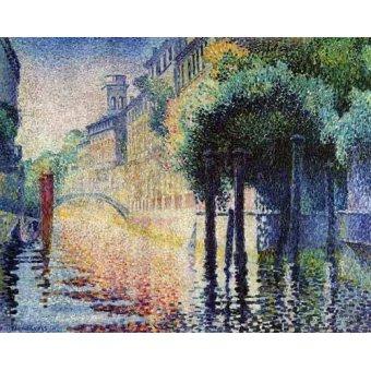 - Quadro -Rio San Trovaso en Venecia- - Cross, Henri Edmond