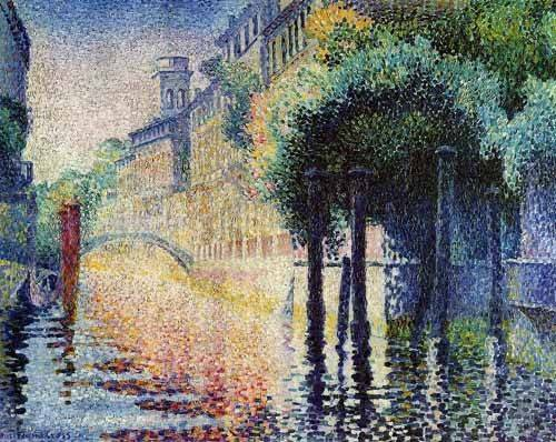 quadros-de-paisagens - Quadro -Rio San Trovaso en Venecia- - Cross, Henri Edmond