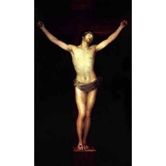 quadros religiosos - Quadro -Cristo crucificado, (de Goya)- - Goya y Lucientes, Francisco de
