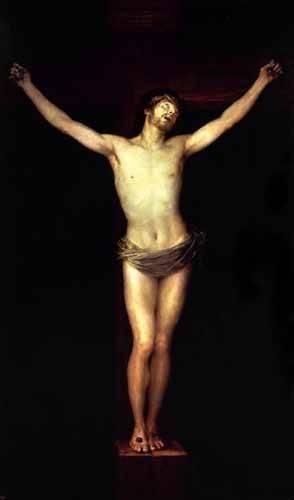 quadros-religiosos - Quadro -Cristo crucificado, (de Goya)- - Goya y Lucientes, Francisco de