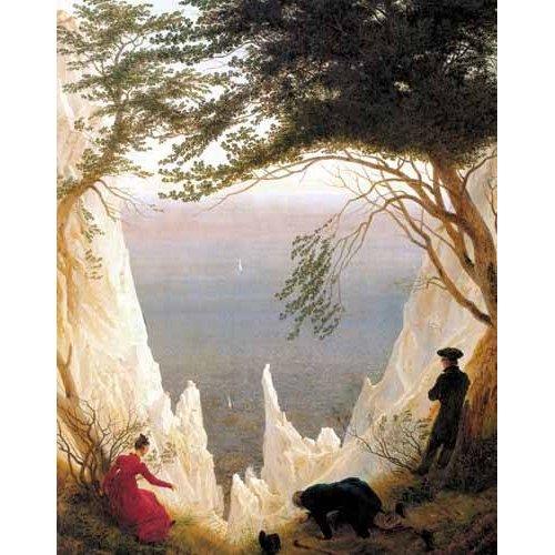 pinturas de paisagens - Quadro -Kreidefelsen auf Rügen-