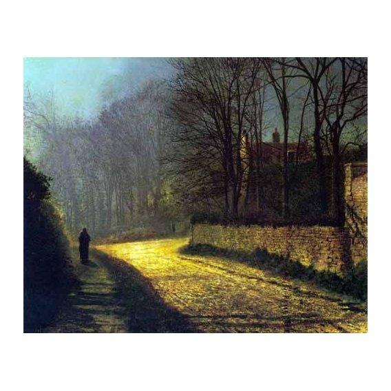 pinturas de paisagens - Quadro -Los amantes-