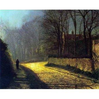 - Quadro -Los amantes- - Grimshaw, John Atkinson