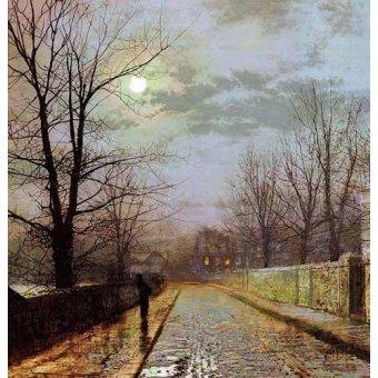- Quadro -Calle de Cheshire- - Grimshaw, John Atkinson