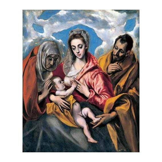 imagens religiosas - Quadro -La Sagrada Familia con Santa Ana (1595)-