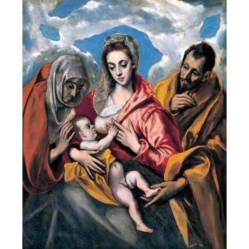 religious paintings - Picture -La Sagrada Familia con Santa Ana (1595)-