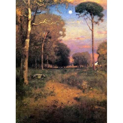 pinturas de paisagens - Quadro -Moonrise Florida-